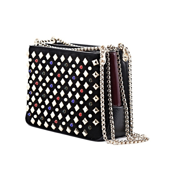 9ab6512388f New Christian Louboutin Triloubi Small Spiked Bag NWT
